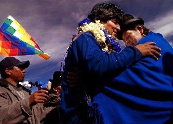 Evo Morales au Nouvel an Aymara