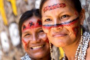 Les indiens Guaranis en Amazonie.