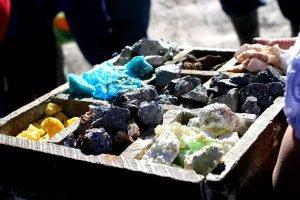 Minéraux extraits du Cerro Rico, à Potosi.